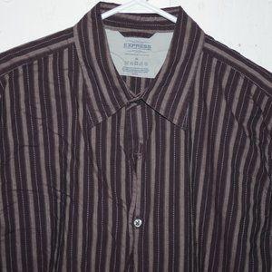 Express button down mens shirt size XL J664